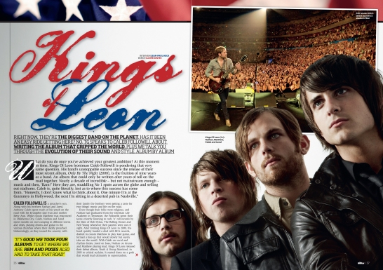 Total Guitar Kings Of Leon feature