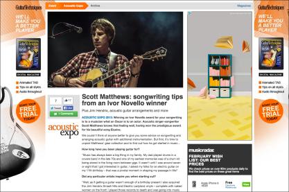 Scott Matthews: songwriting tips from an Ivor Novello winner http://bit.ly/scottmatthews