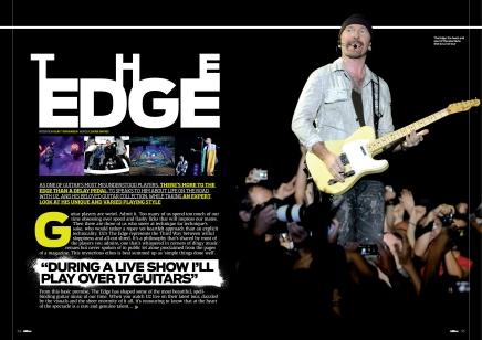 Total Guitar The Edge (U2) feature