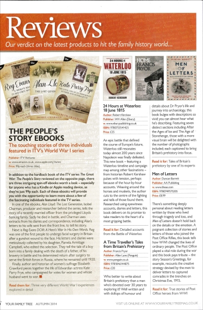 Your Family Tree reviews Autumn 2014